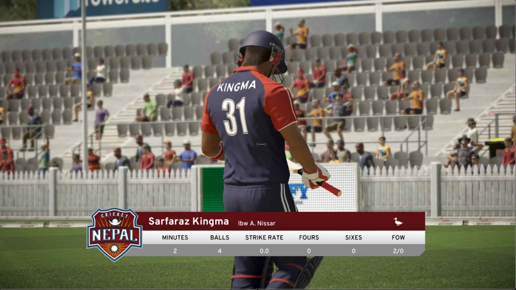 PC Cricket game