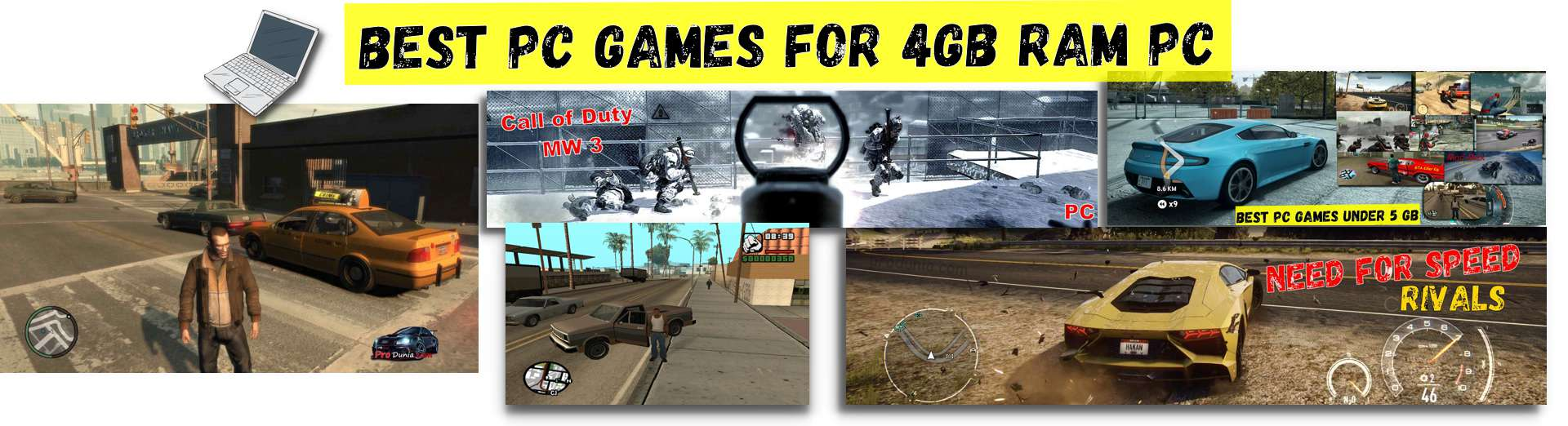Best pc games for 4GB RAM PC – Full collection with the download link
