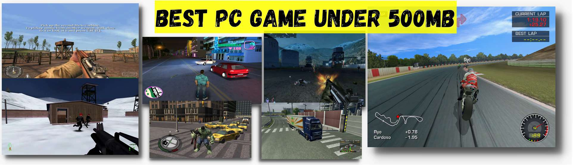 Best pc games under 500MB – Full collection with the download link